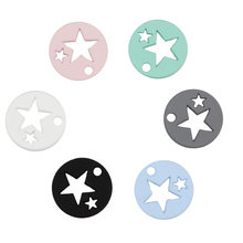 1 piece 2017 Fashion Jewelry Findings, 6 candy colour Hollow Star Small Charms Pendant For DIY Necklace & Bracelet Earrings(China)