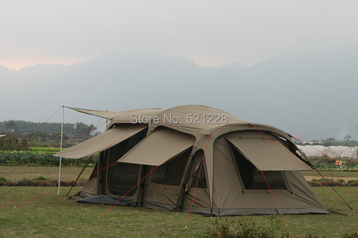 Huge 2 bedroom firm durable inflatable inflating automatic 5 8 person no pole/air column anti rain travel outdoor c&ing tent-in Tents from Sports ... & Huge 2 bedroom firm durable inflatable inflating automatic 5 8 ...