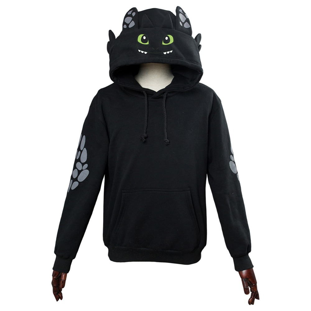 How To Train Your Dragon Toothless Cosplay Hoodie Sweatshirt Casual Pullover Jackets Coat Hooded Hoodie