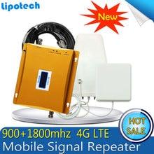 1 Set 65dB Gain GSM 900 4G LTE 1800 (FDD Bande 3) cellulaire Mobile Répéteur de Signal GSM 900 DCS 1800 mhz Double Bande Booster Repetidor