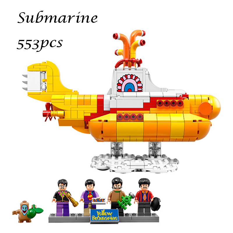 LEPIN 21012 The beatles Yellow Submarine Drag Racer Car Building Blocks Bricks Model Kids Toys for children Compatible 21306 lepin 02025 city the high speed racer transporter 60151 building blocks policeman toys for children compatible with lego