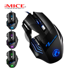 iMice X7 Noiseless Game Gaming Mouse RGB With Backlight Silent Gamer Wired For Computer PC Laptop Optical Ergonomic Mause Rato