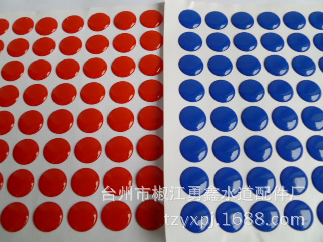 10pcs=1set Faucet Handle Mark Accessories Fixing Screw Handle Hot And Cold Water Sign Switch Red And Blue Label Decorative Cover