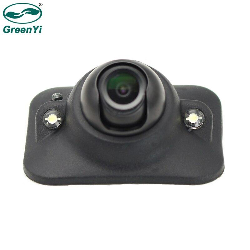 GreenYi Voiture Blind Spot Vue Latérale Caméra avec Auto-gradation Led IR, Caméra Frontale, AUCUN Guide Ligne, AUCUN Perçage, Non-miroir Image