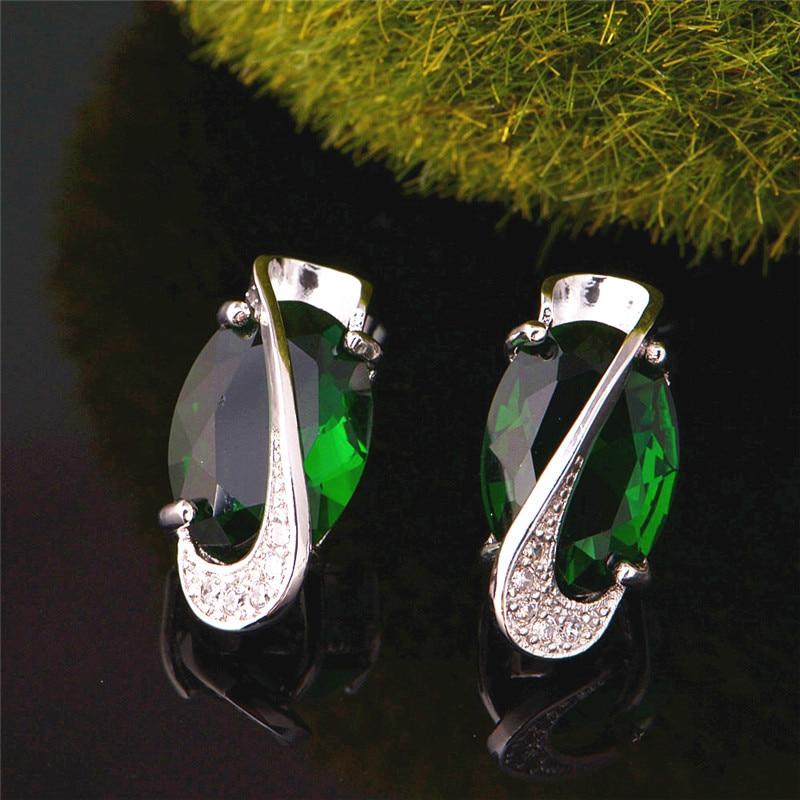 Almei 35% Off Mode Biru Kristal Jewerly Set untuk Wanita Warna Silver - Perhiasan fashion - Foto 5