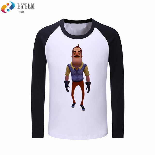 9aba7b731e7de LYTLM Hello Neighbor Shirt Kids Children Cotton Clothes Kids T Shirt  Printing Long Sleeve Tshirt for Kid Vetement Fille Camiseta