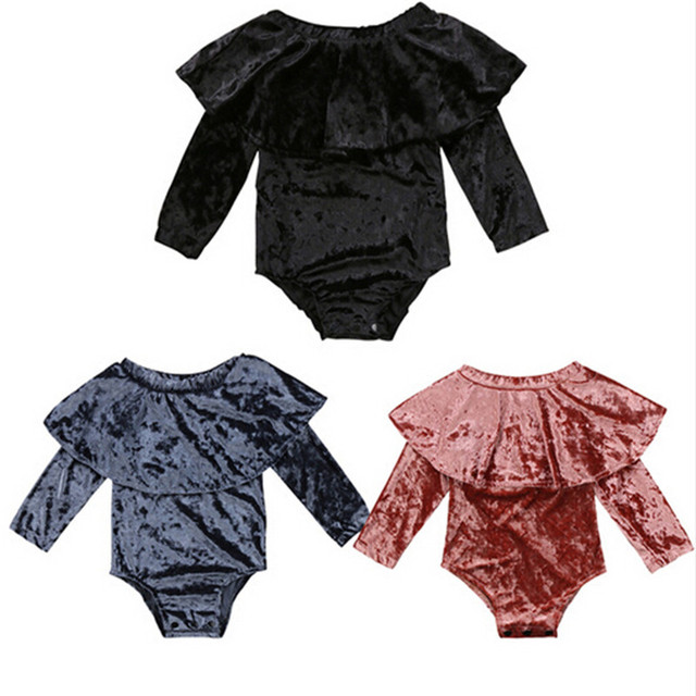 49f99f468e08 Fashion Baby Girl Clothes Newborn Toddler Long Sleeve Off shoulder ...