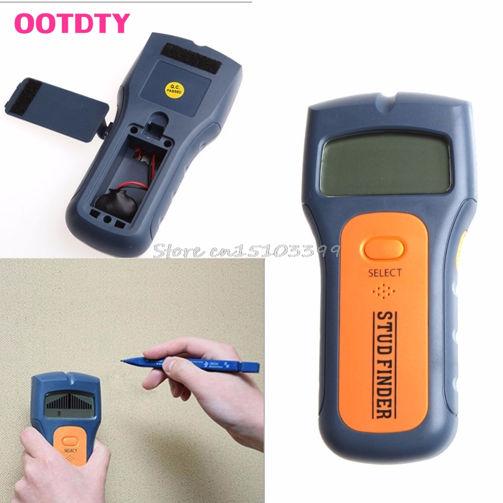 Wood Metal Wall Detector Multimeter Digital Pinpointer Vibrator Multi Stud Scanner Live Wire Cable Finder AC Hot 3 in 1 G25 multi scanner 3in1 lcd wall stud detector metal voltage cable wood finder portable live wire scanner tool