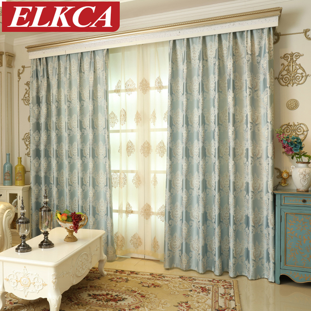Jacquard Classic Luxury Europea Tende per Camera Da Letto Moderna ...