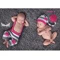 Foto Fotografía recién nacido Amor Larga Cola Sombrero + Pantalones Accesorios Gorros Casquillo Recién Nacido Trajes de Ganchillo Recién Nacido Foto Regalo de la Ducha