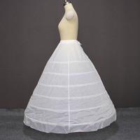 New Arrival 6 Hoops Petticoat for Ball Gown Wedding Dress Crinoline Underskirt Wedding Accessories