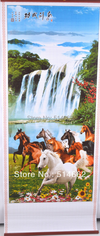 Aliexpresscom Buy New Feng Shui 8 Horse Chinese Printing Picture