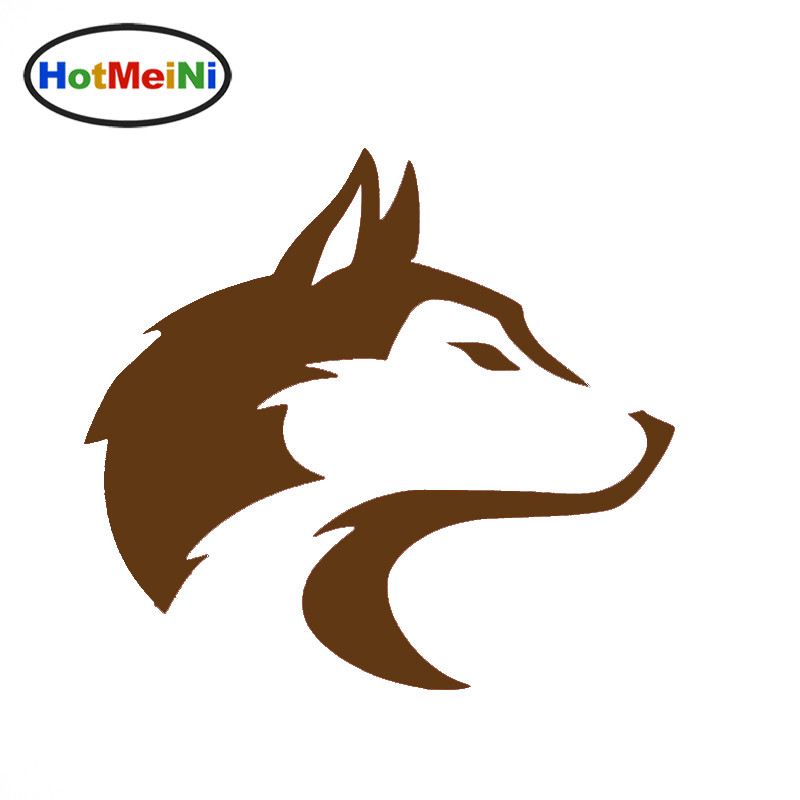 HotMeiNi Husky Pet Dog Alaska Sled Wolf Canine Car Sticker for Minicab SUV Window Motorcycles Reflective Vinyl Decal 10 Colors