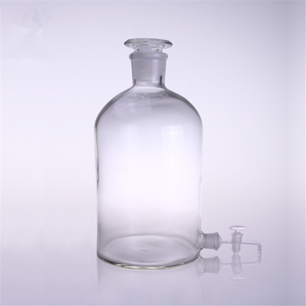 5000ml Glass Medicine Wine Bottle with an Faucet Lab liquid bottle 2 pieces lot 500ml monteggia gas washing bottle porous tube lab glass gas washing bottle muencks