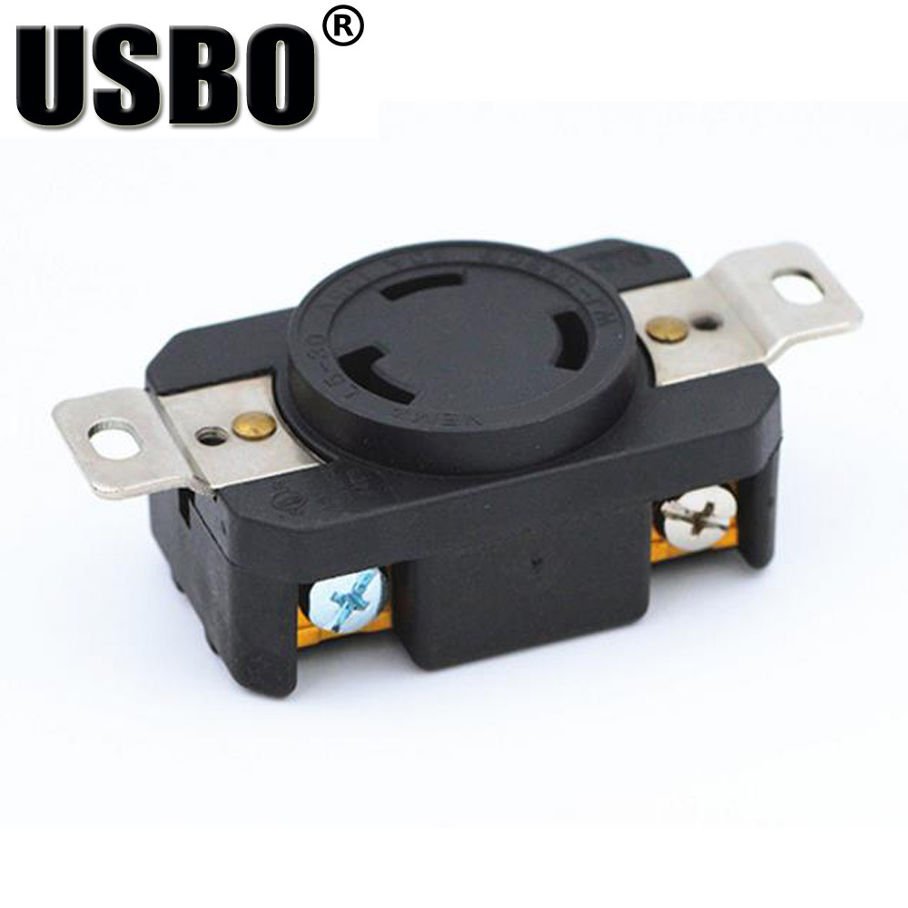 Back To Search Resultshome Black American Nema L6-20r L6-30r Generator Control Panel Anti-off Outlet Us 3 Hole Industry Power Socket Inline Wire Connector