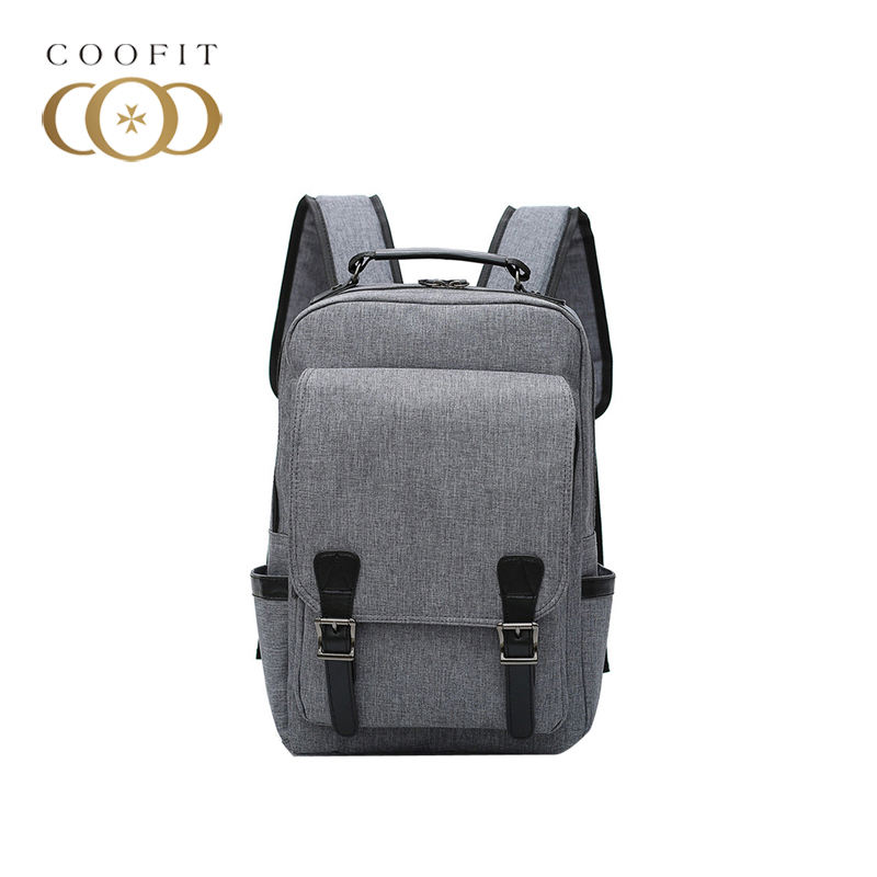 coofit New Canvas Backpack Daypack Breathable Large Capacity Laptop Backpack Travel Backpack For Men and Women Mochila Escolar