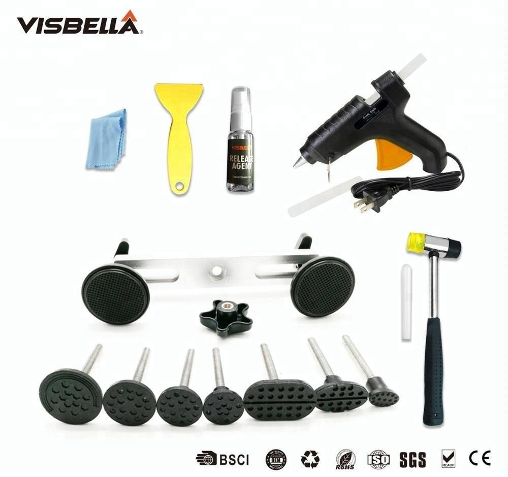 Купить с кэшбэком Visbella Car Dent Repair Kit Professional for Auto  Doors Coffer Roof Remover Puller Pulling with Glue Gun Hand Tool Sets