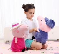 Genuine Peppa Pig big size 46cm Peppa George Grandpa Grandma family children's gift cartoon plush toys for kids Birthday Gift