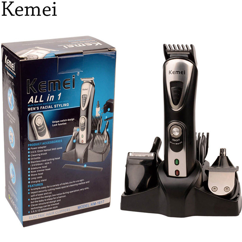 Kemei 5 in 1 Rechargeable Cordless Hair Clipper Electric Shaver Beard Trimmer Men Styling Tools Shaving Machine Cutting Cutter kemei 1832 new cutter cutting hair electric machine rechargeable hair clipper trimmer shaver razor cordless adjustable $5k