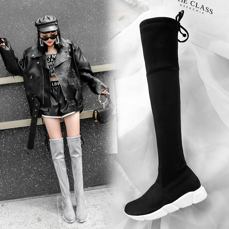 Kyle Walsh Pa Women Heels Knee High Boots Black Pink Green Yellow Autumn Winter Ladies BParty Shoes