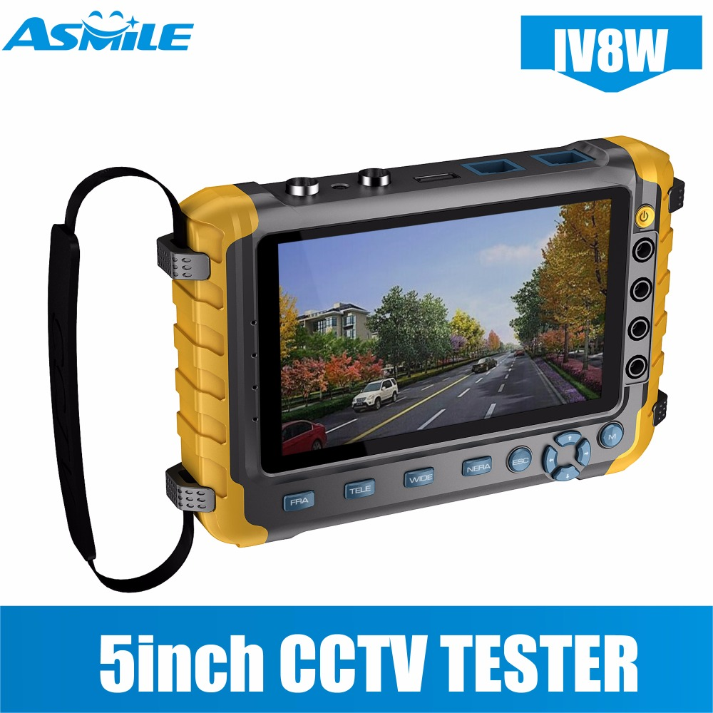 "5"" Inch TFT LCD 1080P 4 IN 1 TVI AHD CVI Analog CCTV Security Monitor Tester for IV8E-in CCTV Monitor & Display from Security & Protection    1"