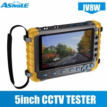 "5"" Inch TFT LCD 1080P 4 IN 1 TVI AHD CVI Analog CCTV Security Monitor Tester for IV8E"
