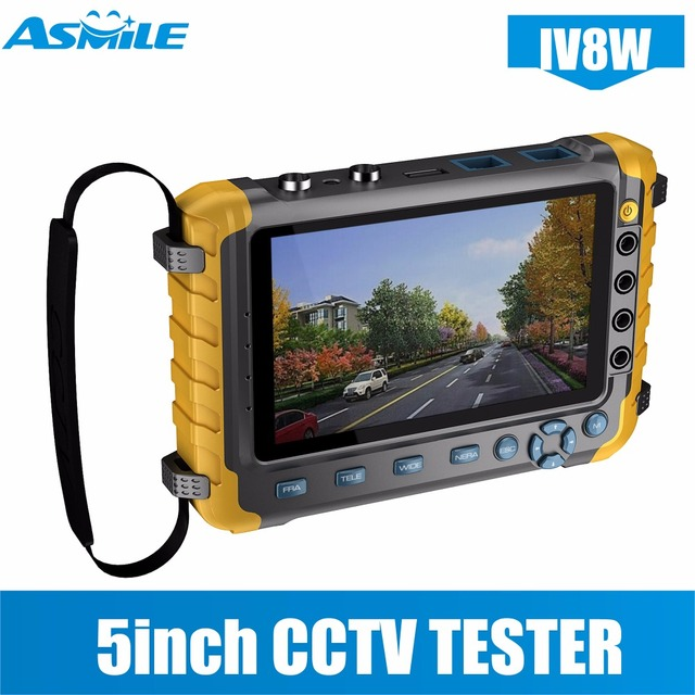 """5"""" Inch TFT LCD 1080P 4 IN 1 TVI AHD CVI Analog CCTV Security Monitor Tester for IV8E"""