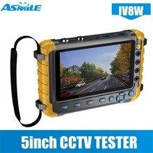 "5 ""inç TFT LCD 1080 P 4 IN 1 TVI AHD CVI Analog CCTV Güvenlik Monitör Test Cihazı IV8E"