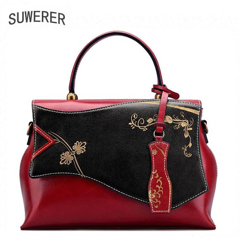Genuine Leather handbag 2017 new national wind embossed high fashion shoes shoulder Messenger bag все цены