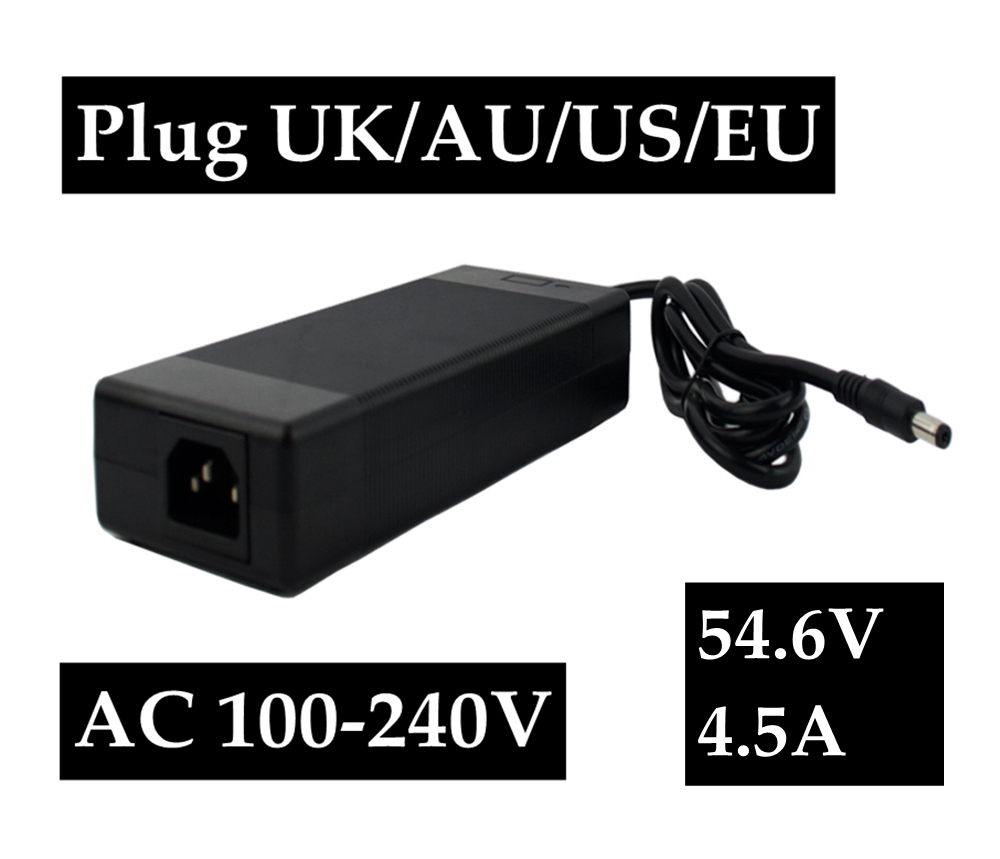 54.6V 4.5A Li ion charger for 54V 4.5A Battery charger DC Socket/connector for 48V Lithium Ebike battery super power electric bike battery 48v 17 5ah li ion battery with sanyo ga 18650 cells for bafang 8fun 48v 750w 1000w ebike motor