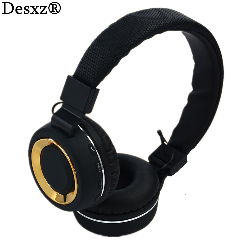 Desxz DS18 Earphones Wireless Bluetooth Headphones Stereo Hifi Deep Bass With Mic FM Radio TF Slot for Cell phone fone de ouvido remax rb m6 desktop bluetooth4 0 speaker portable wireless mic stereo bass surrounded sound nfc fm hifi for phone laptop tablet