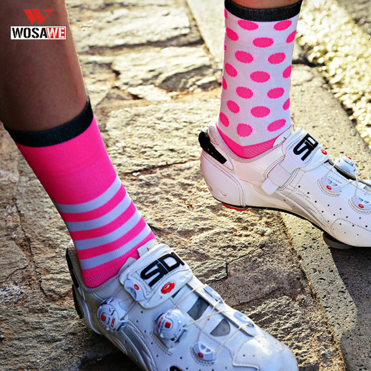 DH Sports Cycling Socks Racing Sports Socks Professional Brand Breathable Protect Feet Road Bicycle Socks Racing Bike Men Women