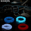 3m/5m 12V Car LED Cold light Flexible Neon EL Wire Auto Lamps Car Ambient Cold Light Line Decorative LED Strip lamps For Cars