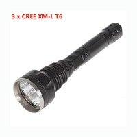 Powerful LED Hunting Torch 4000 Lumens 3T6 3 x XM L T6 LED Flashlight For 18650 Battery Lamp for Camping Lanterna Tatica