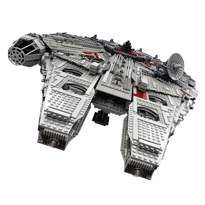 Lepin 05033 Star 5265Pcs Ultimate Wars Collector's Millennium Model Falcon Building Kit Blocks Bricks Toy Gift Compatible 10179 lepin 05035 star wars death star limited edition model building kit millenniums blocks puzzle compatible legoed 75159