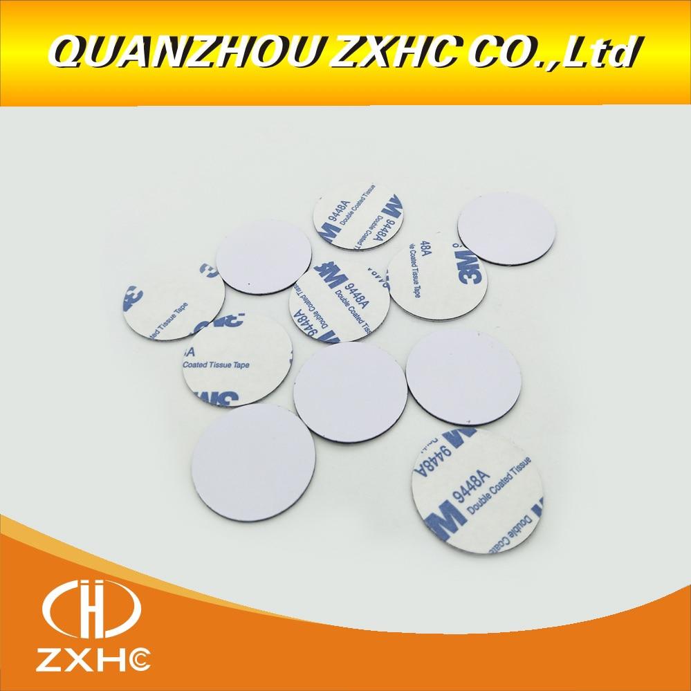 100PCS Anti Metal NFC Tag 30mm PVC Material With 3M Sticker NTAG213 Chip