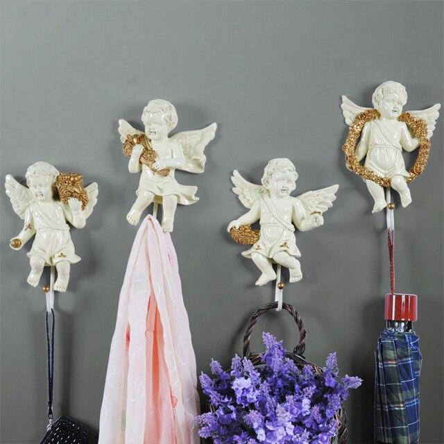 Europäischen Engel Haken Kreative Harz Dekorative Wohnzimmer Bad