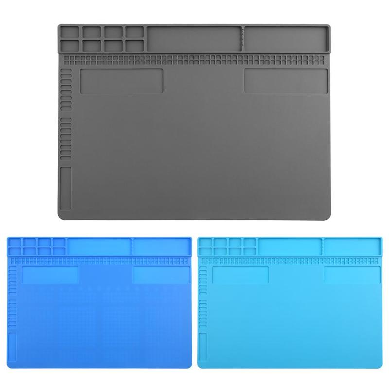 Silicone Heat Insulation Maintenance Electronic Repair Desk Mat Pad Platform Electronic Repair Tool Mat For Smart Phone Table цена