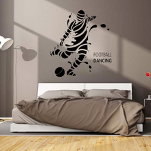 football dancing  Football soccer  Player Wall Removable Stickers Art Quote Vinyl Decal Decor DIY Gift fo 84013 статуэтка мал футболист the football player forchino