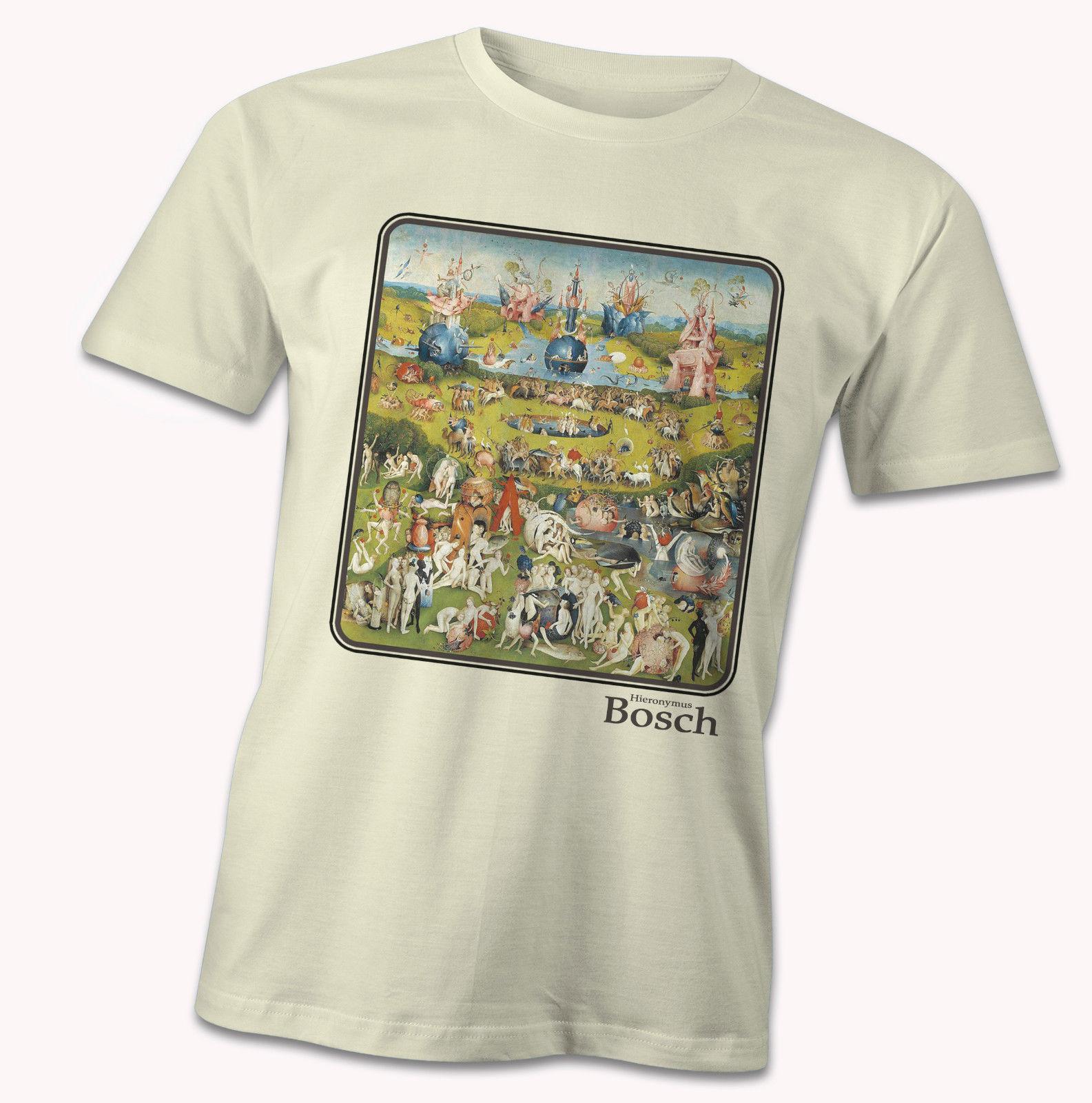 Hieronymus Bosch T-Shirt, The Garden Of Earthly Delights, Dutch Surreal Artist  Cartoon T Shirt Men Unisex New Fashion Tshirt