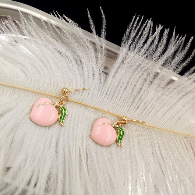 Серьги для женщин модные новые серьги гвоздики в форме персика