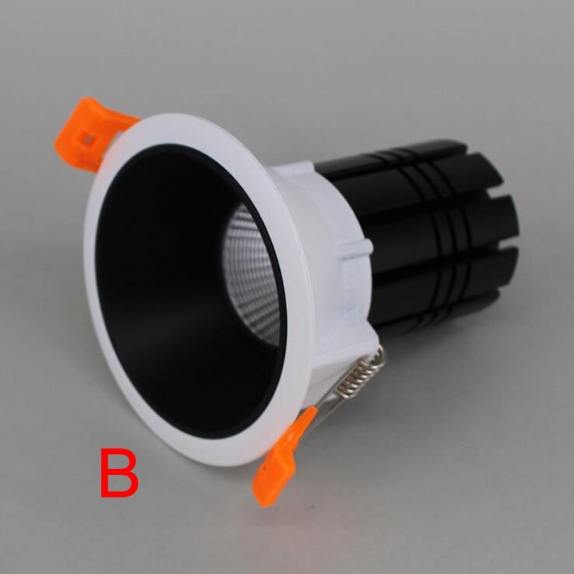 Затемнения 12 Вт 15 Вт светодиодное освещение AC85-265V светодиодный светильник Теплый Холодный белый светодиодный встраиваемый потолочный светильник CE& ROHS - Испускаемый цвет: Type B