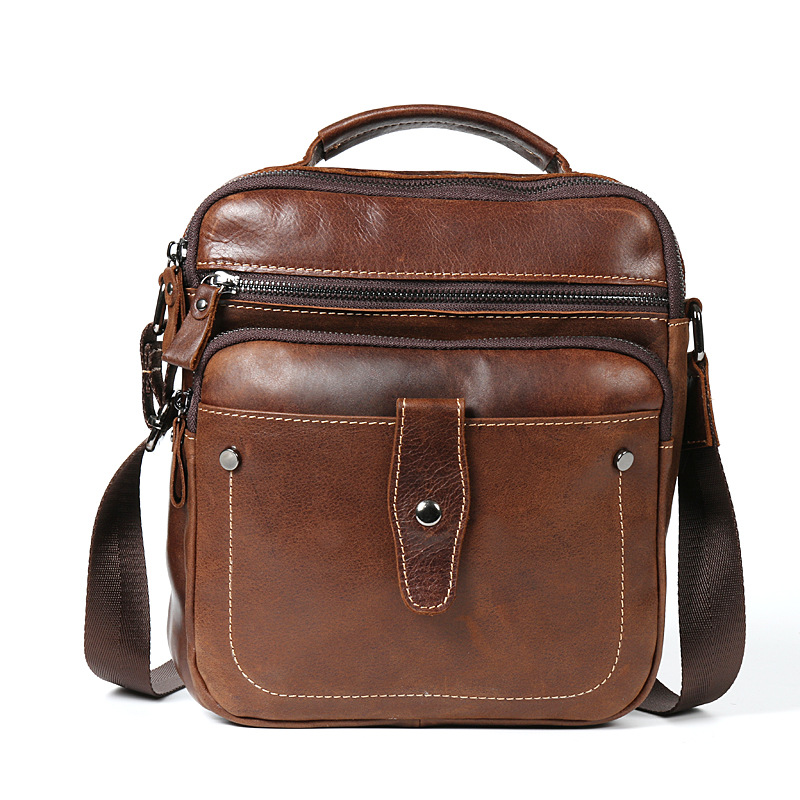 Men 39 s Leather Shoulder Bag Male Messenger Bag Genuine Leather Top Hand Purse