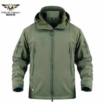 Shark Skin Military Tactical Jacket Men Softshell Waterpoof Camo Camouflage Windbreaker Army Hood Combat Jacket Male Winter Coat - DISCOUNT ITEM  45% OFF All Category