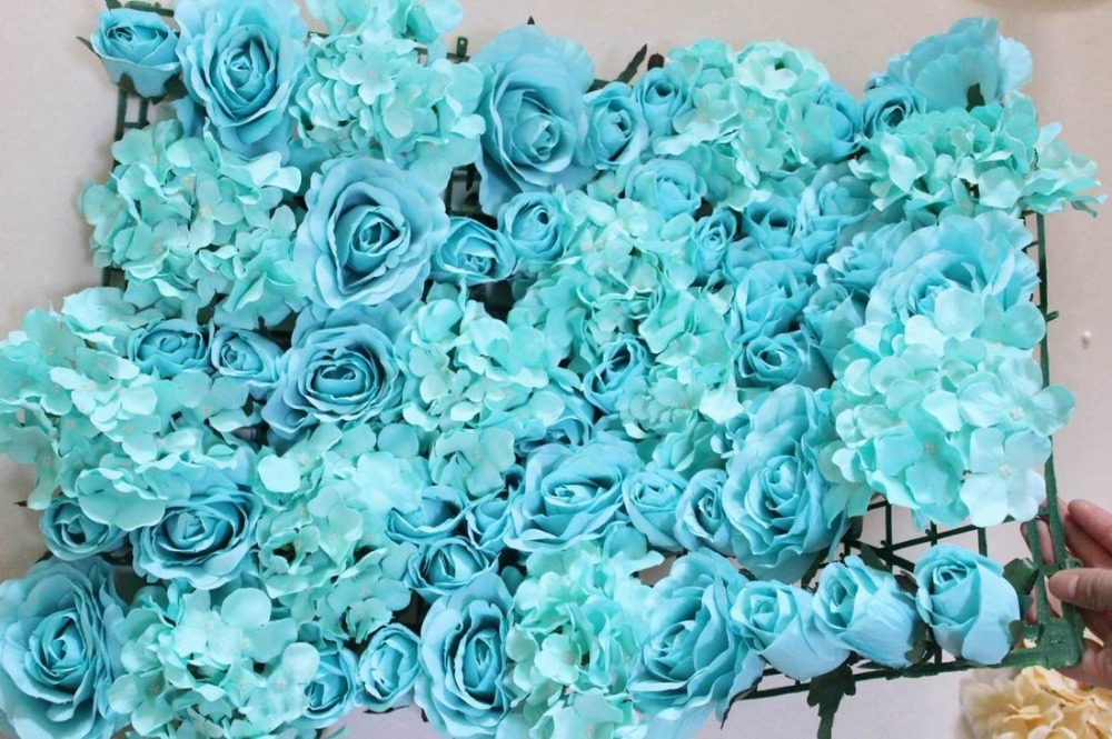 Spr Free Shipping Tiffany Blue Teal 10pcs Lot Artificial