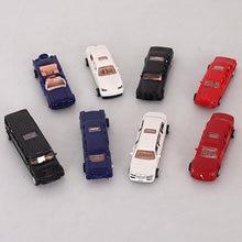Mini 8PCS / LOT Сборка автомобилей 1:87 Сокращение в пропорции DIY Diecast Модель Автомобильные игрушки Наборы для сборки Открытая дверь Jsuny