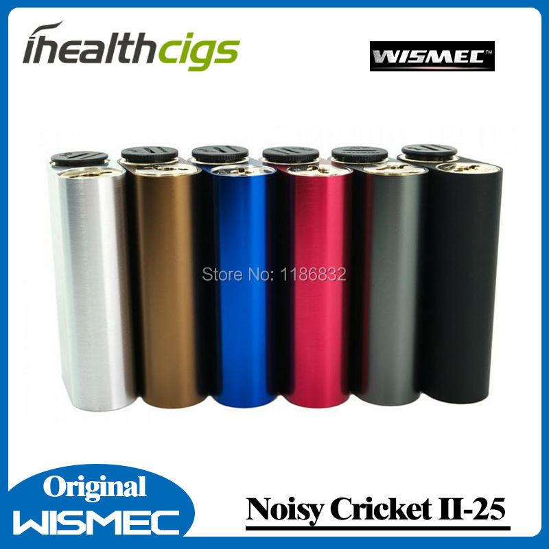 100% Original Wismec Noisy Cricket II-25 Box Mod Dual 18650 Battery Alternative Operating Mode Updated of Noisy Cricket Mod cricket