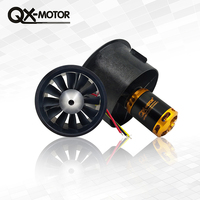 64mm duct fan with 12 Blades+4300kv Motor Spindle 3mm motor for jet RC 64 EDF For RC Airplane