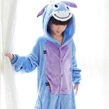 Photography Kid Boys Girls Party Clothes Pijamas Flannel Pajamas Child Pyjamas Hooded Sleepwear Cartoon Animal Donkey Cosplay