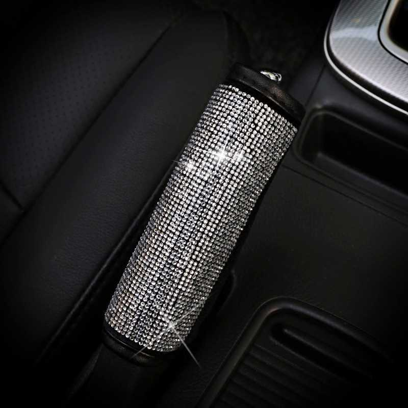 Bling คริสตัล Rhinestone รถที่นั่งเข็มขัด Protector Shifter ครอบคลุมเบรคมือ Grips ชุดตกแต่งภายในรถยนต์อุปกรณ์เสริมสำหรับผู้หญิงหญิง